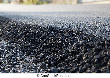 new asphalt laid on the road