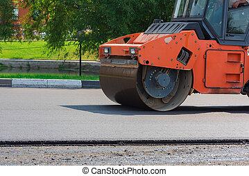 New asphalt laying
