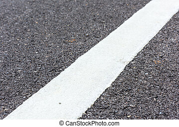 New asphalt texture with white  line