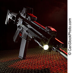 New assault rifle - Assault rifle that is on netting with...