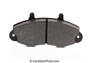 auto brake pads - New auto brake pads isolated on white...