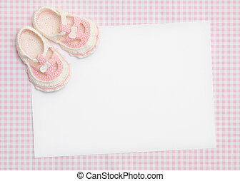 Blank card for new baby or baby shower invitation