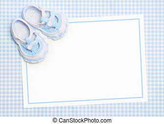 New baby announcement - Blank card for new baby or baby ...