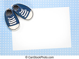 New baby announcement or invite - Blank card for new baby or...