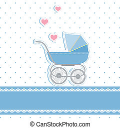 New baby boy shower invitation card