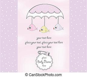 new baby girl shower card