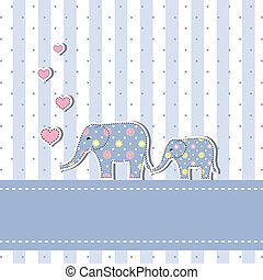New baby shower invitation card