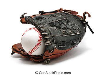 New Baseball and Glove