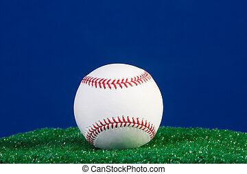 New baseball with blue background