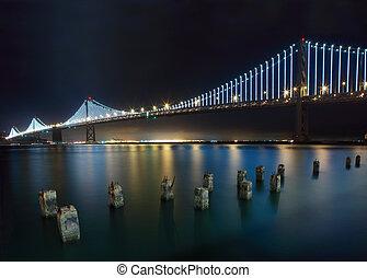 New Bay Bridge - San Francisco-Oakland Bay Bridge at night...