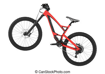 New bicycle isolated on a white background.