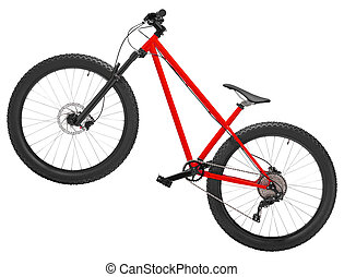 New bicycle isolated on a white background