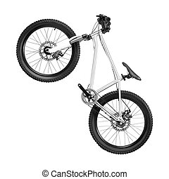 New bicycle isolated on a white