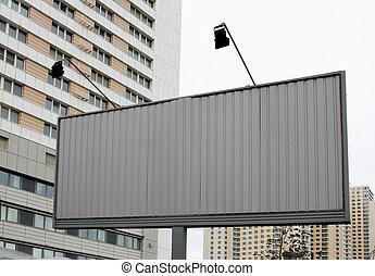 New billboard on street - Blank new billboard on street and...