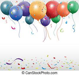 New Birthday celebration - Vector Illustration of New...
