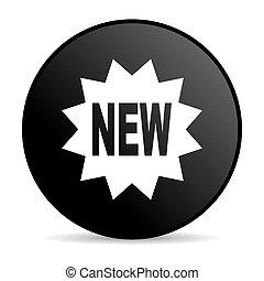 new black circle web glossy icon