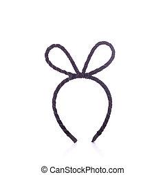 New black headband. Studio shot isolated on white