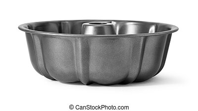 New black nonstick coating roasting pan isolated on white ...