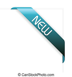 New blue corner ribbon