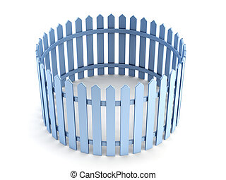 new blue fence