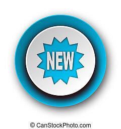 new blue modern web icon on white background