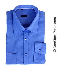 New blue shirt isolated on white background
