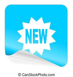 new blue sticker icon