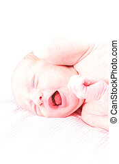 New born baby - Baby isolated agains white