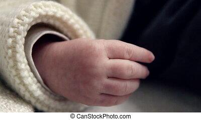 New Born Baby Hand - Close Up Of Newborn Baby's Hand Moving