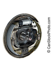 New brake pads and cylinder brake drum (isolated) - New...