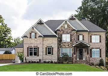 New Brick and Stone Construction - New brick home ...