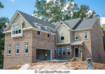 New Brick Home Construction with Sandpile - New brick home ...