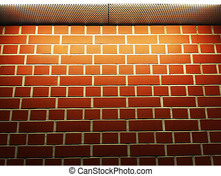 new brick wall with light