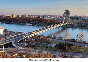 New bridge from castle - Bratislava, Slovakia