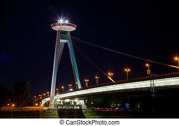 New Bridge over Danube River in Bratislava, Slovakia