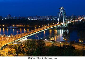 New Bridge over Danube River in Bratislava