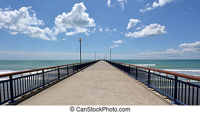 New Brighton Pier Christchurch - New Zealand - CHRISTCHURCH...