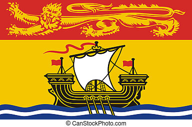 New Brunswick Flag - Illustration of Canadian state of New ...