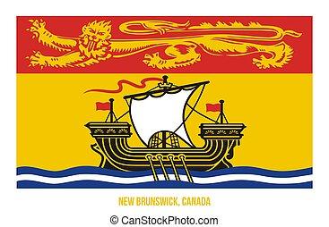 New Brunswick Flag Vector Illustration on White Background. Provinces Flag of Canada