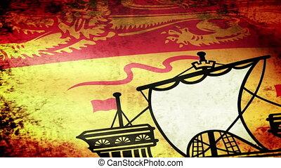 New Brunswick Flag Waving