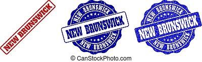NEW BRUNSWICK Scratched Stamp Seals