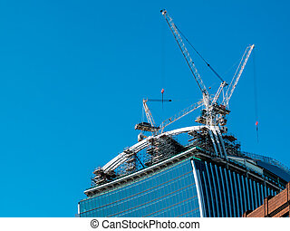 New buiding under construction in the City of London