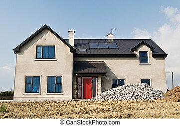 new build concrete house