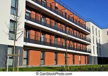 new building in France in the department of Yvelines with Saint-Cyr military school the school