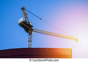 New buildings and tall buildings under construction