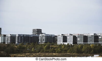 New buildings. New buildings on the outskirts of the city of...