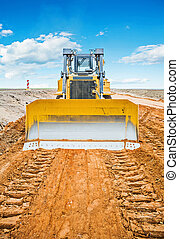 new bulldozzer on construction site