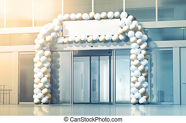 New business centre opening mockup, celebration at the...