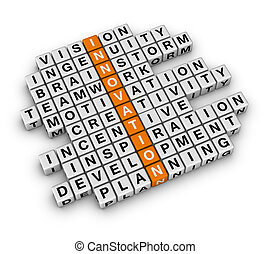 New Business Innovation (3D crossword orange series)