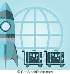 New Business Project Start up Symbol Rocket Space Ship launch Ic